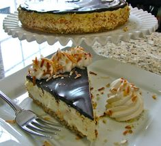 Almond Joy Cheesecake ~ Coconut Almond Cheesecake with Chocolate Ganache
