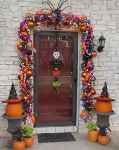 Halloween-Whimsical Doorway by a talented Show Me Decorating Designer in #San Antonio!