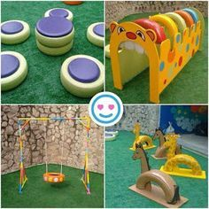 Recycled tire projects for the backyard Kids Outdoor Play, Outdoor Play Areas, Kids Play Area, Backyard For Kids, Diy For Kids, Crafts For Kids, Diy Playground, Decoration Creche, Tire Craft