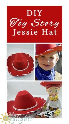 DIY Toy Story Jessie Hat-make your own hat for less than $2!