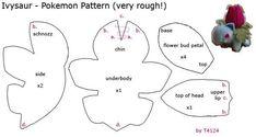 Pokemon Plushie Patterns | Pokemon, Ivysaur plush pattern