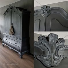 Black Furniture, Painted Furniture, Grey Wash, Annie Sloan Chalk Paint, Furniture Inspiration, Upcycled Furniture, Wax, Pure Products, Refurbishment