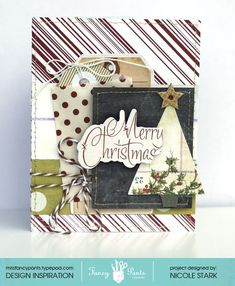 """Merry Little Christmas"" card by Nicole Stark from www.fancypantsdesigns.com"