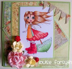 I want to remake this Saturated Canary card (with Prima Papers) as I gave it away.