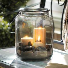 Classic Smoke Glass Lantern | Kirklands