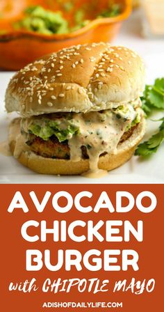 Add a Tex-Mex flair to your next summer BBQ! This Chicken Burger is LOADED with flavor, grilled to perfection, piled high with smashed avocado and smothered in chipotle mayo...perfect recipe for the grilling season!