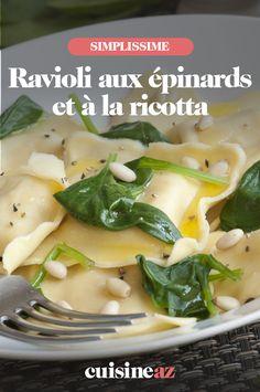 Ce plat de ravioli aux épinards et à la ricotta est une recette de pâtes gourmande. #recette#cuisine #pates #ravioli #epinard #ricotta