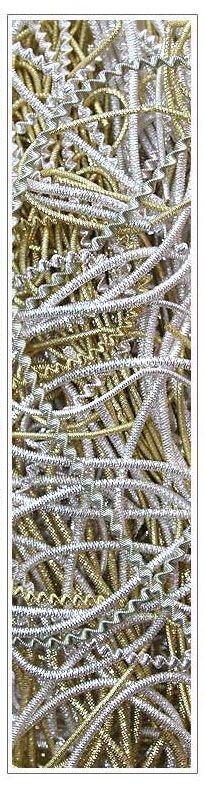 Authentic bouillion crinkle wire from Germany for making Victorian style wrapped ornaments