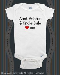 Custom baby onesie Aunt