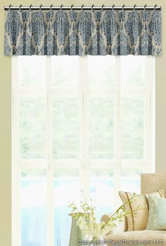 Tailored Pleat Valance: Rod Mounted - Featuring a clean pleat and rich full folds