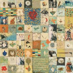 Mother Earth | mixed media on panel | Marti Somers | Sue Greenwood Fine Art #squares