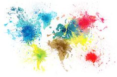 Paint splashes text map of the world ii by michael tompsett framed paint splashes text map of the world ii by michael tompsett framed graphic art paint splash graphic art and products gumiabroncs Images