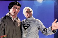 Christopher Reeve and Marlon Brando as Kal-El/Superman/Clark Kent and Jor-El respectively. Superman Movie 1978, First Superman, Superman Family, Superman Comic, Christopher Reeve Superman, Richard Donner, Movie Scripts, Lex Luthor, Guys And Dolls