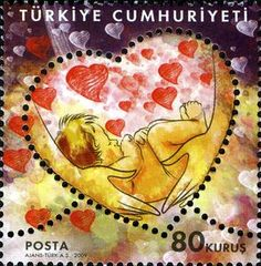 Turkish Mother's Day stamp, 2009 Mothers Day Cards, Turkey, Flower Stamp, Postage Stamps, Ottoman, Peru, Stamps