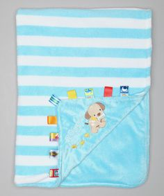 Take a look at this Turquoise Stripe Puppy Stroller Blanket by Taggies on #zulily today!    I want this!!! :)