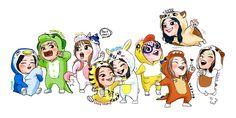 Cute fan art of Twice! Kpop Drawings, Kawaii Drawings, Bts Chibi, Anime Chibi, Nayeon, K Pop, Twice Fanart, Twice Kpop, Best Kpop