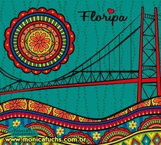 Floripa, Brasil, by Mônica Fuchshuber E Design, Chevron, Fair Grounds, 1, Colorful, Beautiful Wallpaper, Brazil Cities, Colourful Art, Personalized Mugs