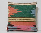 kilim pillow green cushion cover 16x16 DECOLIC orange moroccan cushion modern pillow cover pink living room pillow 15754 kilim pillow 40x40