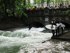 Munich's surf club... in a landlocked city. It's fascinating to watch
