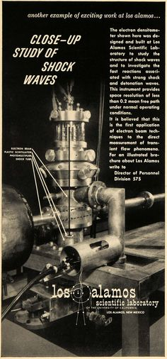 1957 Ad Los Alamos Scientific Laboratory New Mexico - ORIGINAL ADVERTISING TCE1