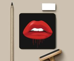 Category Coasters Dimensions Square of size x on each side Material Light MDF. Siding Materials, Coasters, Kiss, Lipstick, Cleaning, Artist, Cladding Materials, Drink Coasters, Lipsticks