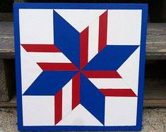Pinwheel Star of Maine Barn Quilt, Indoor/Outdoor 1'x1'