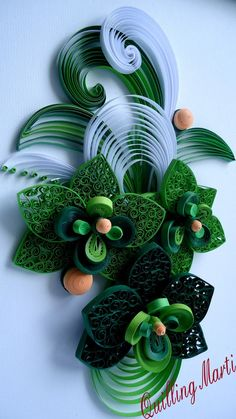 Quilling Marti: Green Quilling picture part 1