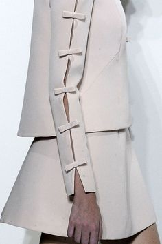 Long Sleeve with Full-length Slit held with Bows ~ Valentino ....
