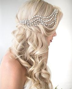 Curly Half Updo with a Hairpiece