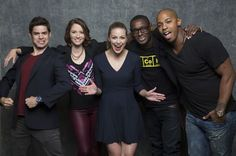 "'Supergirl'  The cast of ""Supergirl"": Jeremy Jordan, left, Chyler Leigh, Melissa Benoist, David Horewood and Mehcad Brooks  http://www.latimes.com/entertainment/herocomplex/la-et-hc-comic-con-2015-photobooth-20150709-042-photo.html"