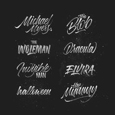 Monster movie all stars. Type by @michael_moodie - #typegang - typegang.com | typegang.com #typegang #typography
