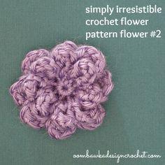 Simply Irresistible Crochet Flower   Free Crochet Pattern