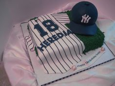 Baseball cake, but with Dodgers instead. Dodgers Cake, Sport Cakes, Baseball Party, Specialty Cakes, Grad Parties, Wedding Cakes, 5th Birthday, Birthday Cakes, Birthday Ideas