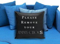 Remove your jimmy choo Black Pillow Case #pillowcase #pillow #cover #pillowcover #printed #modernpillowcase #decorative #throwpillowcase