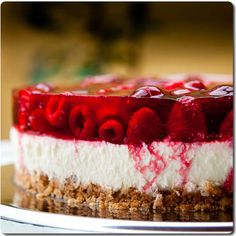 ::Torta de queso con frambuesas::