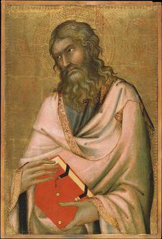 Simone Martini ca. 1284 – 1344     Andrew     tempera on panel (57 × 38 cm) — c. 1326 Metropolitan Museum of Art, New York     Simone Martini biography     This work is linked to Matthew 4:18