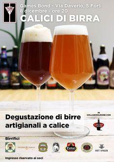 Amici di Forlì e dintorni Martedi 8 vi aspettiamo al Games Bond per una degustazione di birre artigianali al calice con assaggi di cibo abbinati.  Evento: http://ift.tt/1NQRHCf