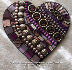 Mosaic Heart - Purple -https://www.facebook.com/groups/TayamaCrafts/