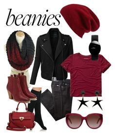 """Beanie For A Bad Hair Day"" by clschmauder ❤ liked on Polyvore featuring Halogen, BRAX, LE3NO, Abercrombie & Fitch, Ralph Lauren, JustFab, Yves Saint Laurent, Salvatore Ferragamo, Rado and Marni"