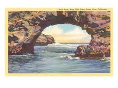 Arch Rock, Santa Cruz, California Art Print at Art.com