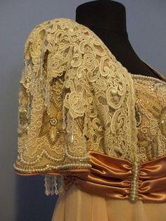 Titanic/Edwardian style Tea Gown by KimberlyAndertDesign on Etsy, $850.00