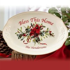 Winter Greetings Bless This Home Tray by Lenox in November 2012 from Lenox
