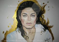 Art with Soul - Colors - Golden Angel - Michael Jackson by Alena Galayko