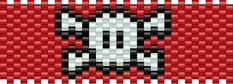 Skullcrossbones Pony Bead Patterns | Misc Kandi Patterns for Kandi Cuffs