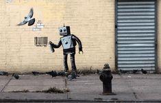 Gifs animados de la obra de Banksy por el artista ABVH