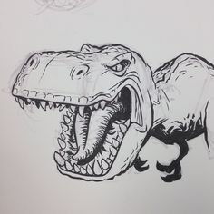 #dino #dinosaur #tyrannosaurus #trex #brushpen #breaksketch #cartoon