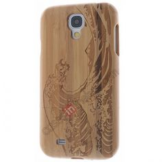 Sea Wave Genuine Natural Bamboo Wood Wooden Protector Case Cover For Samsung Galaxy S4 i9500 US$18.98