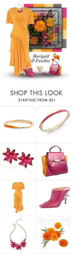 """""""Marigold & Fuchsia"""" by dkelley-0711 ❤ liked on Polyvore featuring GET LOST, Kate Spade, Z Spoke by Zac Posen, Topshop, Maison Margiela, katespade, topshop, polyvoreeditorial and marigold"""