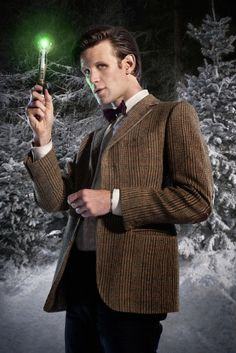 """The Doctor with Sonic Screwdriver in """"The Doctor, the Widow and the Wardrobe"""""""
