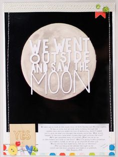 We went outside and saw the moon by emma_kw at @studio_calico